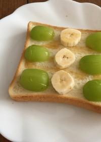 ブドウとバナナのパン