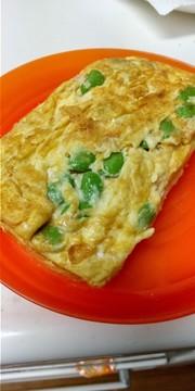 枝豆とチーズの卵焼きの写真