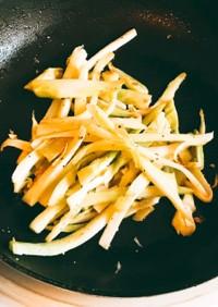 栄養豊富ブロッコリーの茎炒め