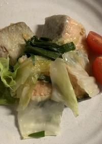 魚とキャベツのちゃんちゃん焼き