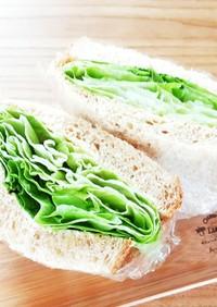 簡単!ヘルシー!旨い!レタスサンドイッチ