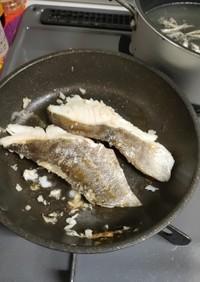 鱈のフライパン焼き