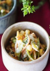 簡単♪小松菜とゆかりのツナマヨ和え