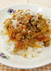 ローカル野菜を使ったタコライス