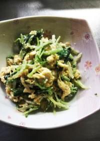 水菜と玉子のゴママヨサラダ
