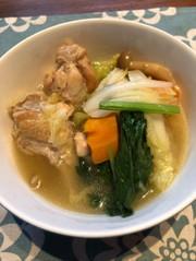 手羽元で♫圧力鍋でサムゲタン風スープの写真