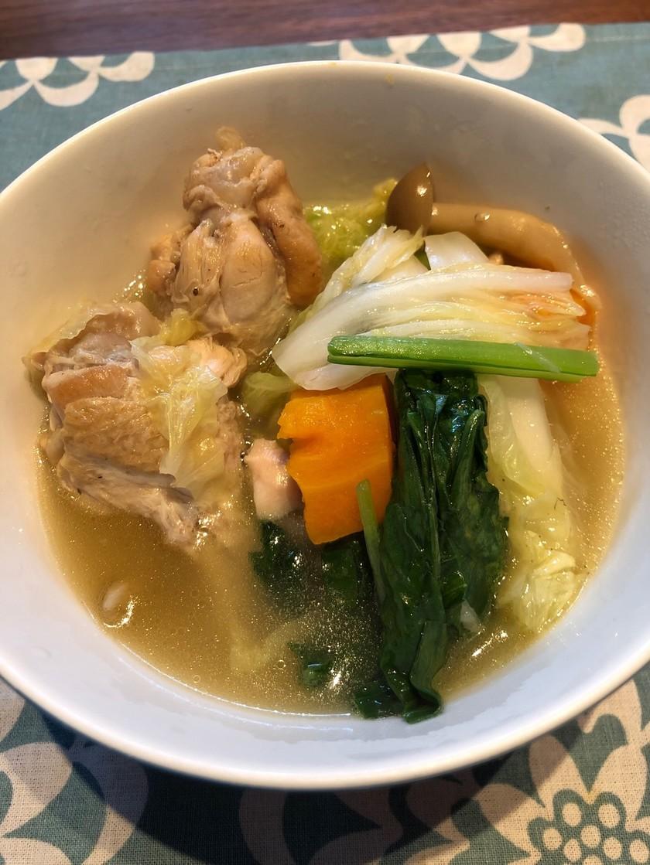 手羽元で♫圧力鍋でサムゲタン風スープ