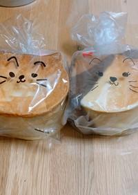ねこパン(プレーンとしましまねこ)
