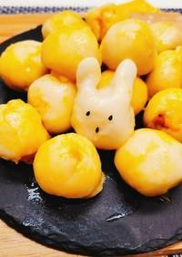 豆腐とかぼちゃのお月見だんご