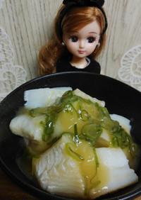 リカちゃん♡白身魚のあんかけ(湯引き)