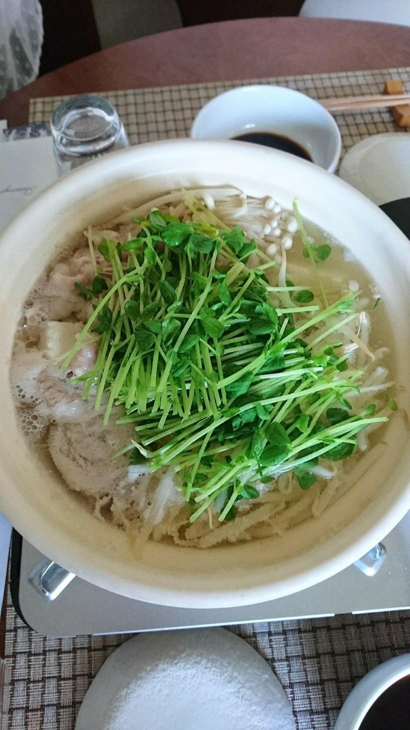 豚バラともやし豆腐だけの鍋q(^-^q)