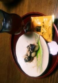 お月見にも!豆腐白玉に餡ときな粉ON。
