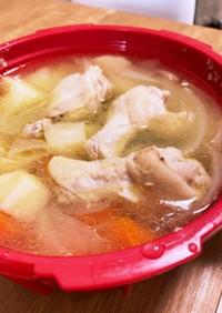 電子レンジ圧力鍋で手羽元のスープ