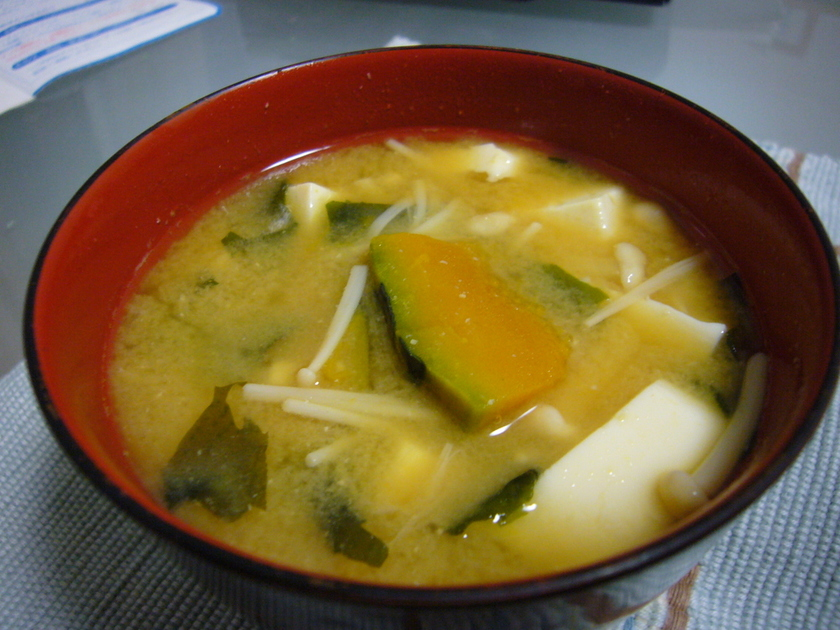 我が家の味噌汁 ♪ かぼちゃ入り ☆