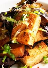 焼き豆腐とキクラゲの甜麺醤炒め煮