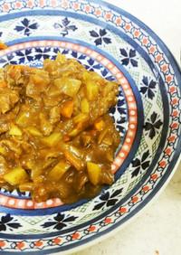 ✨牛肉のカレーあんかけ&豆腐の味噌汁✨