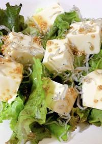 ダイエット 豆腐とジャコのチョレギサラダ