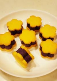 紫芋のスイートポテト風クッキーサンド