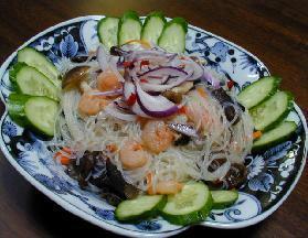 タイ風春雨サラダ・ナンプラーとレモンのドレッシング__Thai Gelatin noodles Salad, Fish oil&Lemon dressing