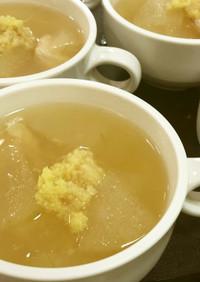 はかた地どりササミと冬瓜のスープ