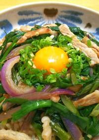 豚ロースとニラ◎玄米ご飯で簡単スタミナ丼