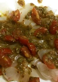 真鯛のカルパッチョ〜トマトケッパーソース