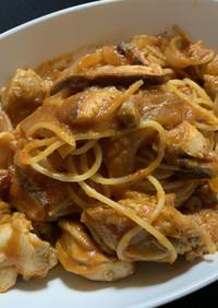 鶏もも肉のトマトパスタ(減量飯)