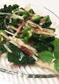 オクラとツルムラサキの梅サラダ