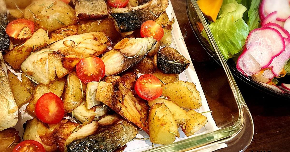 サバとポテトのガーリックローズマリー焼き by kazoomdub