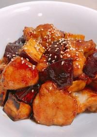 さつまいもと鶏もも肉の韓国風炒め♡