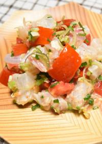 かぼすと薬味野菜で和風のセビーチェ