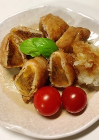 柿の豚肉巻き