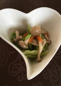 [防災]白菜、にんじん、しめじのさっと煮