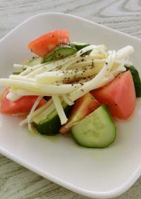 【副菜】夏野菜のチーズサラダ