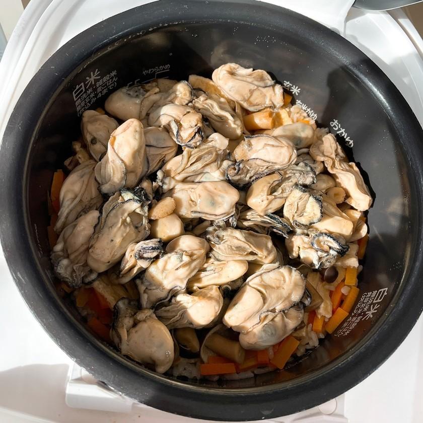 祖父直伝♡牡蠣炊き込みご飯超簡単激ウマ♡