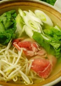 アウトドアでも美味しい☆サッポロ一番塩鍋
