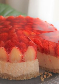 農家のレシピ 夏イチゴのレアチーズケーキ