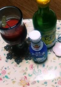 トマトジュースにポッカレモンとアマニ油+