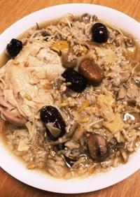 電気圧力鍋で作るキノコたっぷり腸活参鶏湯