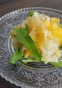 体にやさしい大根と柿のサラダ