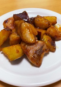 サツマイモと鶏肉の韓国甘辛炒め