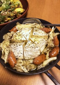 カマンベールチーズの秋アヒージョ