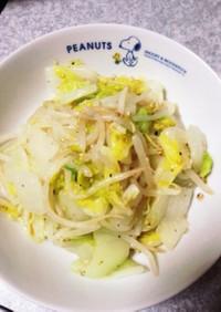 白菜とモヤシのナムル風和え物