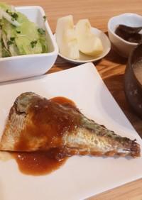 フライパンで簡単サバの味噌煮