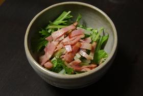 梨と水菜のサラダ