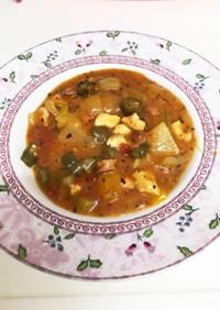 アメリカの家庭料理☆チキンガンボスープ
