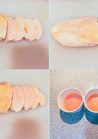 低温調理済の冷凍肉 解凍方法比較実験