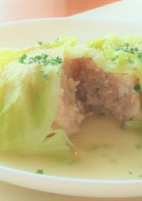 鶏ひき肉と春キャベツで簡単ロールキャベツ