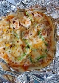 フライパンと魚焼きグリルでピザ☆