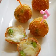 ピンチョス風♪チーズ入り枝豆コロッケ